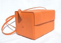 ORANGE 1980's Andrea Pfister Karung Snake Skin Shoulder Bag