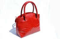 RED MAXIMA ALLIGATOR Belly Skin Handbag - Gorgeous!!