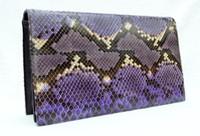 1970's-80's Purple PYTHON Snake Skin CLUTCH Shoulder Bag - Chic de Paris