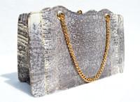 ANDREW GELLER 1950's-60's MONITOR Lizard Skin CLUTCH Handbag