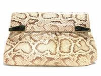 HUGE Deco 1960's-70's PYTHON Snake Skin CLUTCH Bag - SUPREME