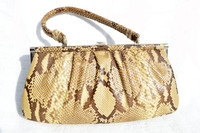 1950's-60's PYTHON Snake Skin Convertible CLUTCH Handbag