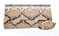 1960's-70's PYTHON Snake Skin Convertible CLUTCH Handbag - w/ Change Purse!