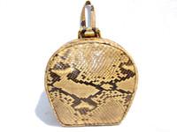 1930's-40's PYTHON Snake Skin MINAUDIERE Wristlet Bag