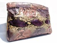 1960's-70's PURPLE PYTHON Snake Skin CLUTCH Bag - VARON