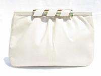 1970's-80's BONE SUSAN GAIL KARUNG Snake Skin CLUTCH Bag