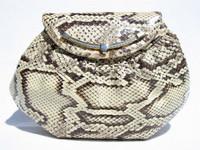 1970's FINESSE LA MODEL Python Snake Skin CLUTCH Bag