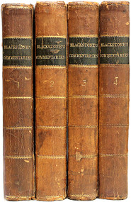 BLACKSTONE, William. Commentaries on the Laws of England. In Four Books. (THE NINTH EDITION - 1783)