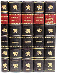 CHURCHILL, Winston. THE POST-WAR SPEECHES - The Sinews of Peace, Europe Unite, In the Balance, Stemming the Tide, and The Unwritten Alliance. (ALL FIRST EDITION - 5 VOLUMES - 1948-61)
