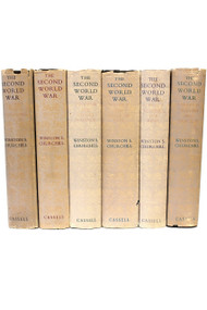 CHURCHILL, Winston. The Second World War. (ALL FIRST EDITIONS - 6 VOLUMES - 1948-54) (b)