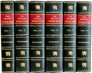 CHURCHILL, Winston. The Second World War. (ALL FIRST EDITIONS - 6 VOLUMES - 1948-54) (d)