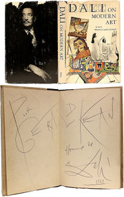 DALI, Salvador (Haakon M. Chevalier - translator). Dali on Modern Art: The Cuckolds of Antiquated Modern Art. (FIRST AMERICAN EDITION PRESENTATION COPY INSCRIBED BY DALI - 1957)
