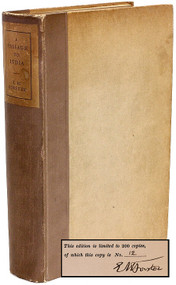 FORSTER, E. M.. A Passage to India. (FIRST EDITION - LIMITED SIGNED - 1924)