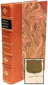 FRANCE, Anatole. The Complete Works of Anatole France. (THE AUTOGRAPH EDITION - 30 VOLUMES - 1924)
