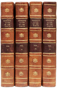 JOHNSON, Samuel. The Lives of The Most Eminent English Poets, With Critical Observations on Other Works. (4 VOLUMES - NEW EDITION CORRECTED - 1790)
