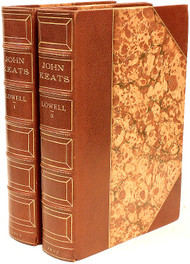 LOWELL, Amy. John Keats. (FIRST EDITION - 2 VOLUMES - 1925)