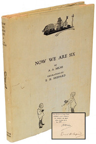 MILNE, A. A.. Now We Are Six. (LARGE PAPER SIGNED LIMITED AMERICAN EDITION - 1927)
