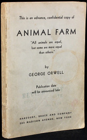 ORWELL, George. Animal Farm. (ADVANCE REVIEW COPY OF THE FIRST AMERICAN EDITION - 1946)