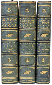 PEPYS, Samuel. The Diary of Samuel Pepys 1659-1669. (8 VOLUMES BOUND IN 3 - 1952)