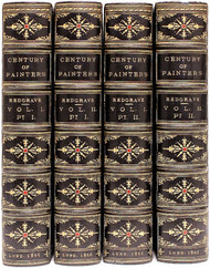 REDGRAVE, Richard & Samuel. A Century of Painters of The English School; with Critical Notices of Their Works, and An Account of The Progress of Art in England. (EXTRA ILLUSTRATED 2 VOLUMES EXTENDED TO 4 - 1866)