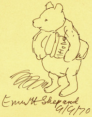 SHEPARD, Ernest - (A. A. MILNE). Winnie the Pooh. (ORIGINAL DRAWING)