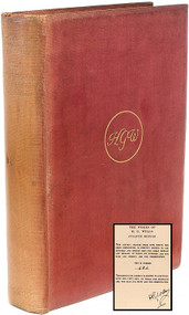 WELLS, H. G.. The Time Machine - The Wonderful Visit - and Other Stories. (THE ATLANTIC EDITION SIGNED - 1924)