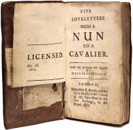 GUILLERAGUES, Gabriel Joseph de LAVERGNE, vicomte de. Five Love-Letters from a Nun to a Cavalier - BOUND WITH - Seven Portuguese letters; being a second part to the five love-letters, from a nun to a cavalier. (1686/1681 - 3rd EDITION & 1st EDITION)