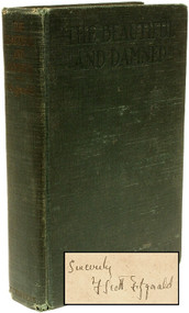 FITZGERALD, F. Scott. The Beautiful and Damned. (FIRST EDITION FIRST ISSUE - SIGNED - 1922)