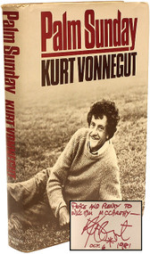 VONNEGUT, Kurt. Palm Sunday. (FIRST EDITION PRESENTATION COPY - 1981)