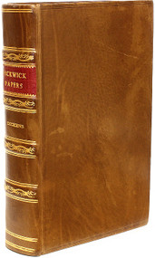 DICKENS, Charles. The Posthumous Papers of Pickwick Club. (FIRST EDITION - BOUND FROM THE PARTS - 1837)