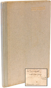 WHARTON, Edith. Twelve Poems. (FIRST EDITION - INSCRIBED - 1926)