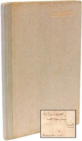 WHARTON, Edith. Twelve Poems. (FIRST EDITION - INSCRIBED - 1926)