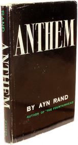 RAND, Ayn. Anthem. (THIRD EDITION - SECOND U.S. PRINTING - PRESENTATION COPY - 1960)