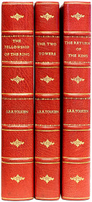 TOLKIEN, J. R. R.. THE LORD OF THE RINGS. (The The Fellowship of the Ring, The Two Towers, & The Return of the King). (1955 - VOL. 1 FOURTH IMPRESSION - VOL. 2 SECOND IMPRESSION - VOL. 3 FIRST EDITION)