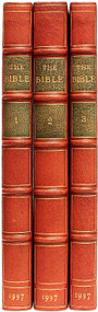BATES, Ernest Sutherland - editor. The Bible Designed to be Read as Literature. (2 VOLUMES - 1937)