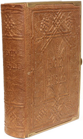 "BIBLE. The Holy Bible Containing the Old & New Testaments illustrated by a selection from Raphael's pictures in the Vatican freely adapted & drawn on wood by Robert Dudley. (1864 - ""RELIEVO LEATHER"" BINDING)"