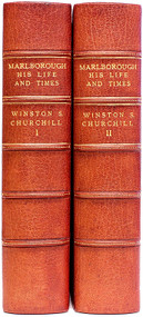 CHURCHILL, Winston. Marlborough His Life and Times. (SECOND PRINTING OF THE FIRST 2 VOLUME EDITION - 1949)
