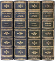 CHURCHILL, Winston. Marlborough. His life and times. (NEW EDITION REVISED - 4 VOLUMES - 1934)