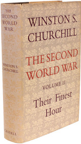 CHURCHILL, Winston. The Second World War - Volume 2 - Their Finest Hour. (FIRST EDITION - 1949)