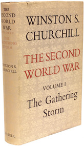 CHURCHILL, Winston. The Second World War - Volume 1 - The Gathering Storm. (FIRST EDITION - 1948)