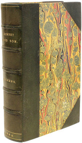 DICKENS, Charles. Dombey and Son. (FIRST EDITION BOUND FROM THE PARTS - 1848)