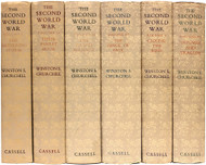 CHURCHILL, Winston. The Second World War.  (6 VOLUMES - ALL FIRST EDITIONS - WITH DUST JACKETS)