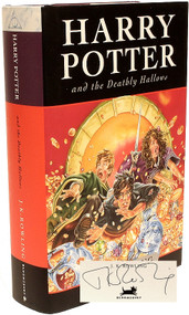 ROWLING, J. K.. Harry Potter and The Deathly Hallows.  (FIRST UK EDITION PRESENTATION COPY)