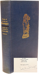 MONTAIGNE, Michel de; (Salvador Dali - Illustrator). Essays of Michel de Montaigne. (LIMITED EDITION SIGNED BY DALI - 1947)