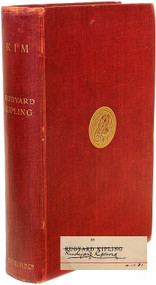 KIPLING, Rudyard. Kim. (FIRST EDITION FIRST ISSUE SIGNED AND DATED BY THE AUTHOR - 1901)