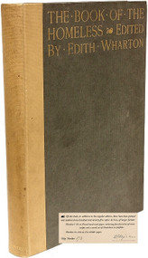 WHARTON, Edith (editor). The Book of The Homeless (Le Livre des Sans-Foyer) [Large Paper Copy]. (FIRST LIMITED NUMBERED EDITION - 1916)