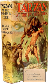 BURROUGHS, Edgar Rice. Tarzan At The Earth's Core. (GROSSET & DUNLAP EDITION & A PRESENTATION COPY - 1934)