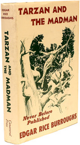 BURROUGHS, Edgar Rice. Tarzan And The Madman. (PRE-PUBLICATION REVIEW COPY - 1964)