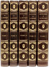 LAVIGNAC, Albert & LAURENCIE, Lionel de la. Encyclopedie de la Musique et Dictionnaire du Conservatoire. (5 VOLUMES - 1924)
