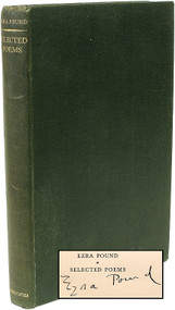 POUND, Ezra (T. S. Eliot - editor). Ezra Pound Selected Poems. (SIGNED FIRST EDITION - 1927)